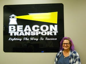 Haefele, Michelle has been chosen truck driver of the month for Tennessee based trucking company, Beacon Transport