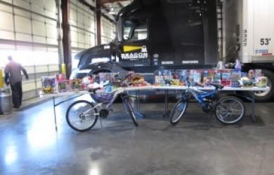 Beacon Transport Trucking Logistics Company Charity Toy Drive
