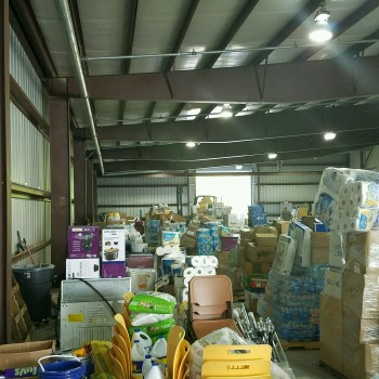 Donations collected by Tennessee based Trucking Company, Local trucking logistics company.