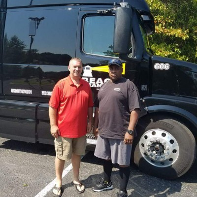 Two truck drivers at local truck company and Tennessee based Trucking company