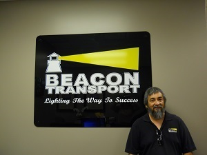 Carmello, Augustine Jr. has been chosen truck driver of the month for Tennessee based trucking company, Beacon Transport