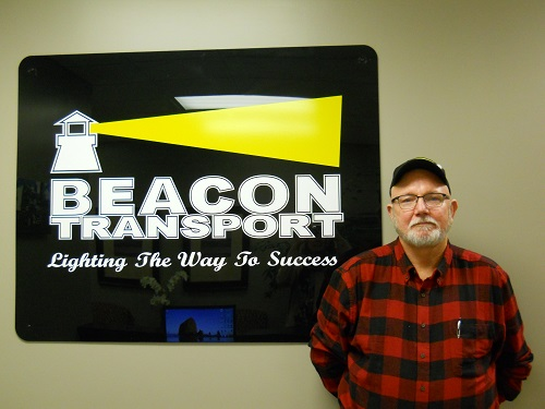 Handley, Landon has been chosen truck driver of the month for Tennessee based trucking company, Beacon Transport