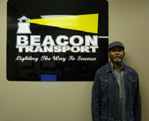 Kerry Harrison has been chosen truck driver of the month for Tennessee based trucking company, Beacon Transport